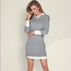 NEW VENUS Collar Detail Sweater Dress